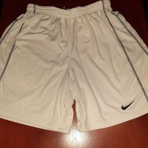 Men's white Nike Athletic shorts